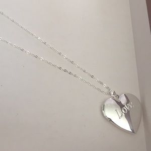 Jewelry - Love Heart Locket Silver Plated Necklace